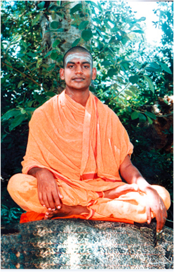 Nithyananda after achieving the ultimate Enlightenment and merging his consciousness with the Universal Consciousness:
