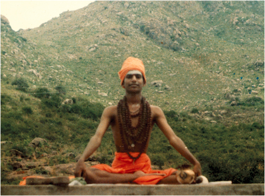 A young Nithyananda, yogi and intense spiritual seeker yearning to find the deepest truths of life: