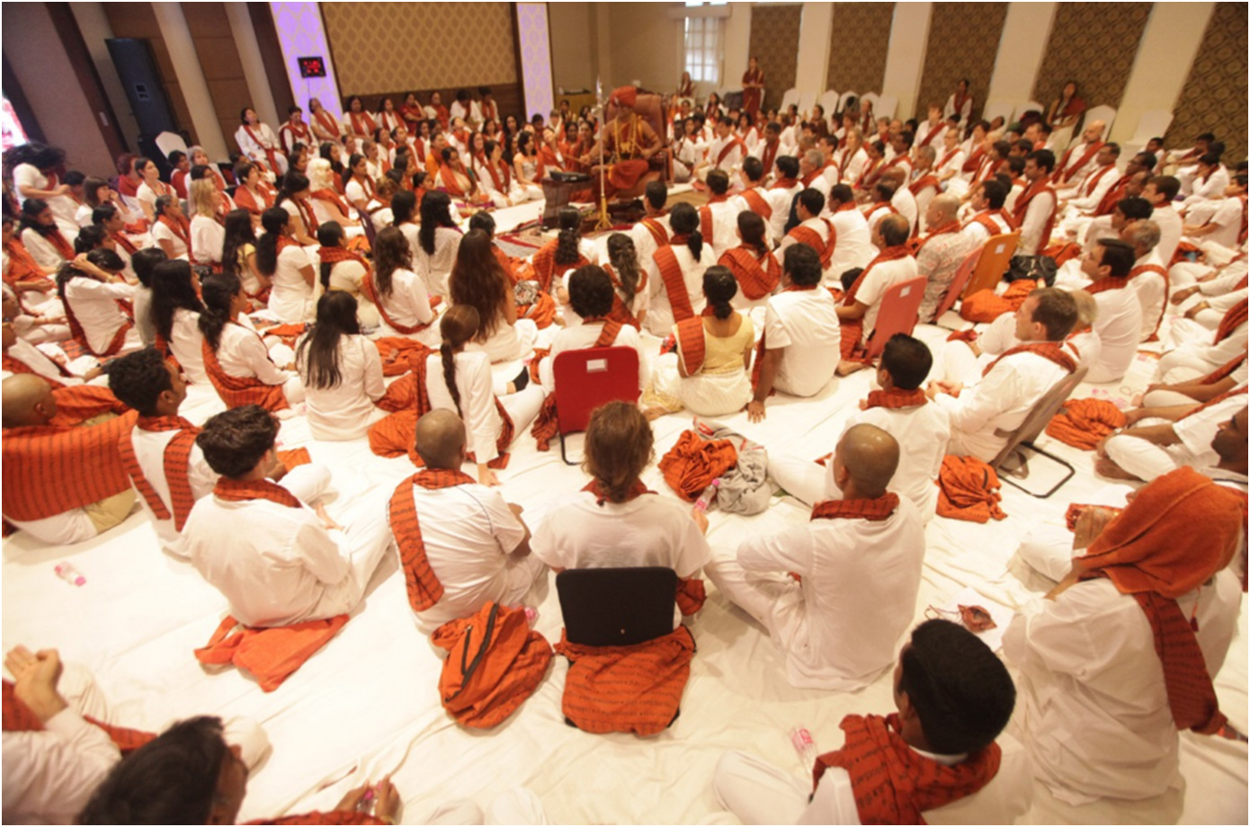 SwamijiEnlightening the world through conducting a meditation workshop with devotees from all walks of life, countries, religions, origins, and backgrounds.