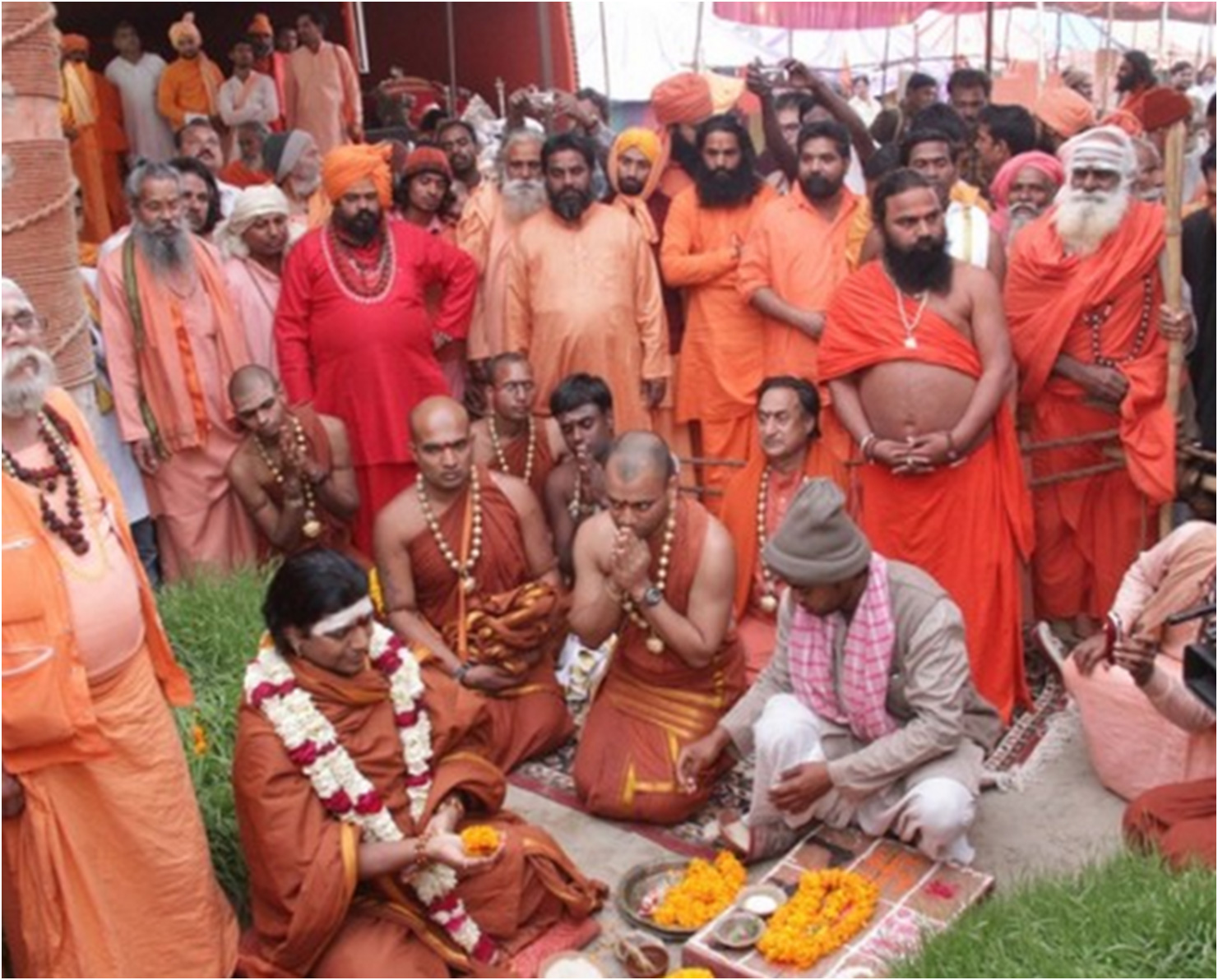 A powerful spiritual leader and reviver of the Vedic tradition, here Swamiji is performing Puja, an ancient ritual to connect with the Divine