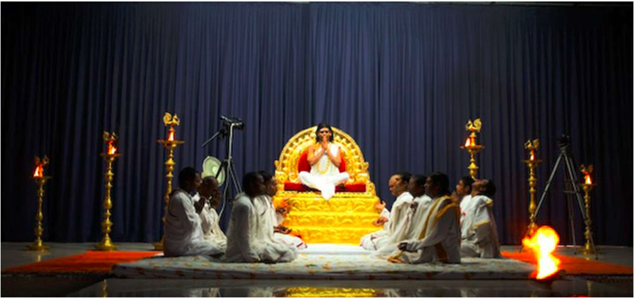 Swamiji performing a mystical initiation to a batch of sincere seekers yearning to experience the deeper truths of life.